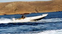 equipped rigid inflatable boat (outboard, twin engine, center console, T-Top) FORCE 7  Bluefin Boats