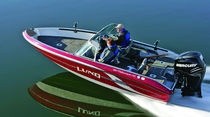 fish and ski boat : outboard dual console boat 186 FISHERMAN GL Lund