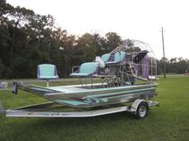 fishing and hunting air-boat 15 ALUMINIUM Floral City Airboat