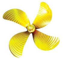 fishing boat propeller (bronze, 4 blades)  ERIS PROPELLERS