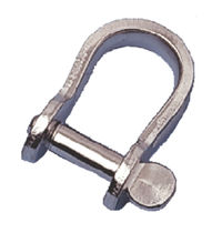 flat stainless steel D-shackle for sailboats R6060T RWO