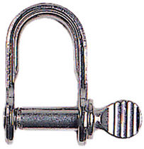 flat stainless steel D-shackle for sailboats (captive pin) EX1301 McLaughlin Boat Works