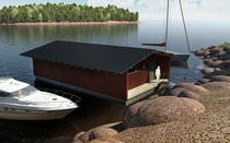 floating boat canopy  Marina Housing