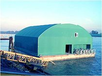 floating dock for aquaculture  International Marine Floatation Systems Inc.