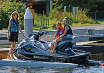 floating jet-ski drive-on dock SUNPORT2  Superior Jetties