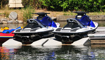 floating jet-ski drive-on dock WAVEPORT Hewitt Boats Lifts and Docks