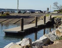 floating landing stage pontoon (wooden)  Marina Dock Systems