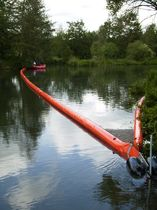 floating oil boom (rigid flotation elements) 350 Optimal Planen- und Umwelttechnik