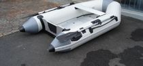 foldable inflatable boat: tender (outboard, inflatable keel, aluminium deck) 230 Atomix Boats