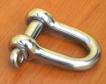 forged stainless steel D-shackle for sailboats  Garelli