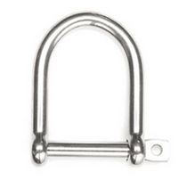 forged stainless steel D-shackle for sailboats  Hayn Enterprises