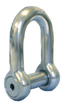 forged stainless steel D-shackle for sailboats (captive pin)  Petersen Stainless