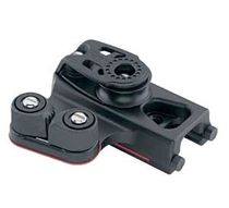 genoa lead car control with simple sheave / cam cleat for sailboats 2741 Harken