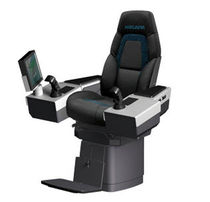 helm seat with built-in control stand for ships  HATLAPA Uetersener Maschinenfabrik & Co. KG