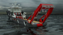 hoisting A frame for oceanographic research vessels  Norwegian Deck Machinery