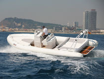 inflatable boat : equipped rigid inflatable tender (in-board, center console) CORMORAN 730 Duarry