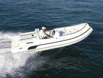 inflatable boat : equipped rigid inflatable tender (in-board, side console) BAHIA 580 Duarry