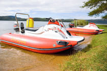 inflatable boat : rigid inflatable tender (outboard, with jockey console) CLS Aquaquad