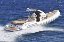 inflatable boat : equipped rigid inflatable tender (in-board, center console, teak deck) A35 Cantieri Nautici Abate