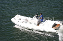 inflatable boat : equipped rigid inflatable tender (jet propulsion, center console) 20 CATAMARAN IO Nautica Ribs