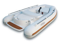 inflatable boat : equipped rigid inflatable tender (jet propulsion, center console)  Aermarine