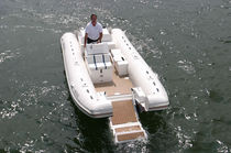 inflatable boat : equipped rigid inflatable tender (jet propulsion, side console) 24 CATAMARAN IO Nautica Ribs