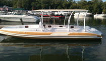 inflatable boat : equipped rigid inflatable yacht tender (in-board, center console, T-Top) LC 25 Nautica Ribs