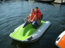 inflatable boat : rigid inflatable tender (outboard, with jockey console) ELS Aquaquad