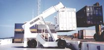 loaded container reach-stacker (with top-lift spreader) DECK HANDLER ISOLOADER