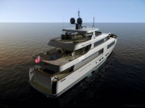 luxury yacht : flybridge super-yacht (steel, tri-deck, explorer) 35.5 Fifth Ocean Yachts