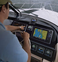 marine GPS system : depth sounder, chart-plotter, radar G12 Geonav