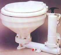 marine toilet with hand pump  BAS