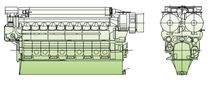 medium-speed diesel propulsion engine for ships (4 stroke, V-type) V28/33D (5460 -&gt; 9100 KW @ 1000 RPM) MAN Diesel SE