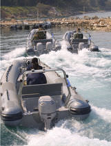 military boat : rigid inflatable boat (outboard, center console) FORCES Barracuda