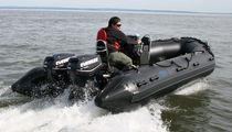 military boat : foldable inflatable boat (outboard) NAV 19HD Nautic & Art