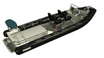 military boat : rigid inflatable boat (jet propulsion, center console) PATROL 7,5 JET Euro Offshore - Blue Spirit