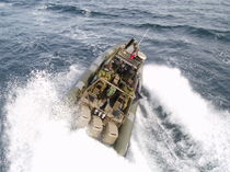 military boat : rigid inflatable boat (outboard, triple engine, center console) C-1100  Boomeranger