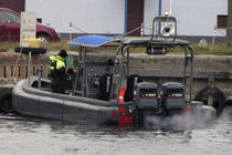 military boat : rigid inflatable boat (outboard, twin engine, center console) FOAM FENDERS 8-10M Tornado Boats