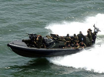 military boat : rigid inflatable boat (troop carrier) ACV Holy Head
