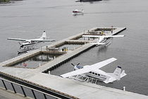 modular floating seaplane drive-on dock VHFC International Marine Floatation Systems Inc.