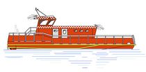 motor-boat : landing craft (fire- / rescue-boat) ALN DB 39 Alnmaritec