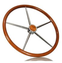 motor-boat steering wheel (teak) Ø 600 mm | TYPE C ikibro ltd.
