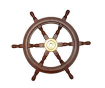 motor-boat wooden steering wheel 3600616 Marine Town