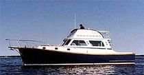 motor-boat : flybridge express-cruiser (downeast) 38' Wilbur