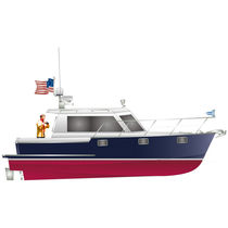 motor-boat : in-board cabin-cruiser (downeast, hard-top) IP310 Island Pilot