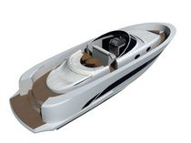 motor-boat : in-board center console boat (yacht tender, sundeck) WAKE TENDER Wayachts
