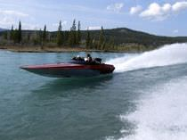 motor-boat : in-board runabout (aluminium) RACE TUNNEL Eagle Racing