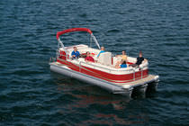 motor-boat : pontoon boat (tri-tube, 15 person max.) 24 OASIS VP Manitou Pontoon Boats
