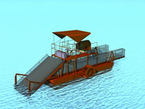 motor-boat : work-boat (with weed mower) Harvester WD 8000 Navgathi Marine Design & Constructions