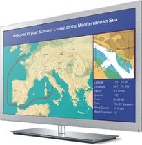 multifunction monitor for boats (PC, video, navigation system) PI 3000 Euronav